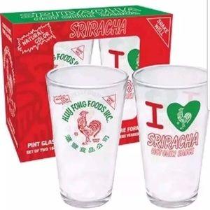 Set of Sriracha 16oz Glasses